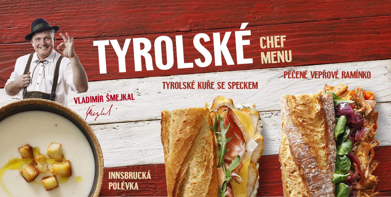 Tyrolské Chef Menu