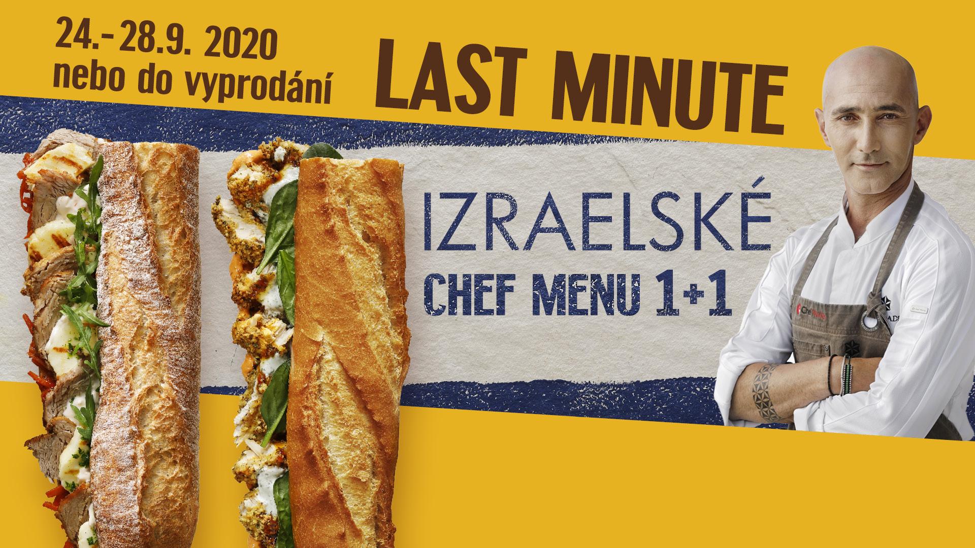 Last minute Izraelské Chef menu 1+1