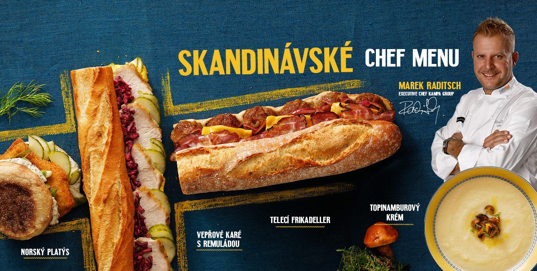 Skandinávské chef menu