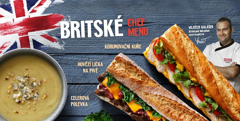 Bristské Chef menu